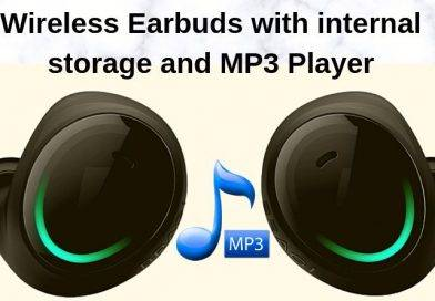 Wireless Earbuds with internal storage and MP3 Player