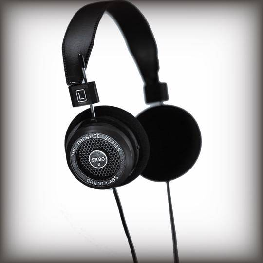 The Grado SR80e Prestige Series headphones