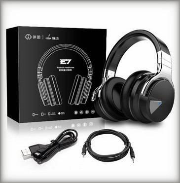 The Cowin E7 active noise cancelling headphones