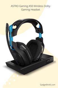 some other times, he wears the ASTRO Gaming A50 Wireless Dolby Gaming Headset