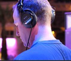 DJ Sasha wearing Sony MDR-7506