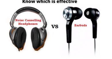 Noise Cancelling headphones vs earplugs