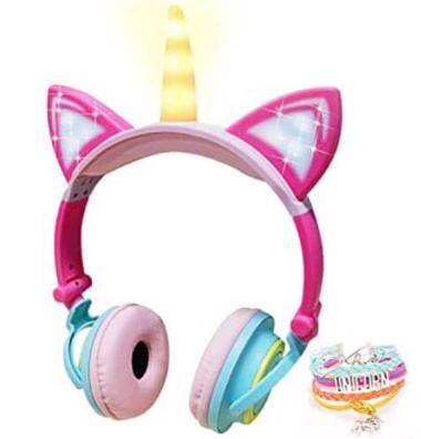Veroras Unicorn Fancy kids headphones for Tween Girls