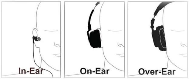 On ear vs over ear headphones vs earbuds