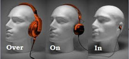 earbuds vs On ear vs over ear