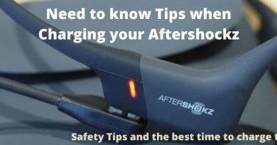 Charging Aftershockz Headphones