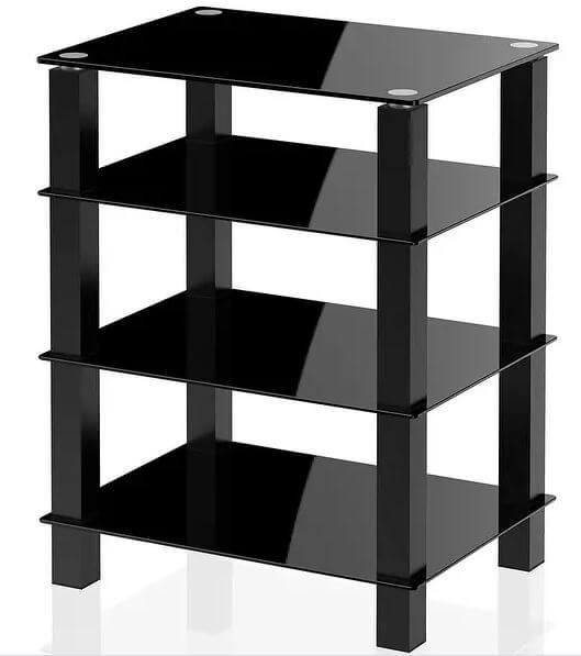 Fitueyes 4-tier TV Stand with reinforced glass