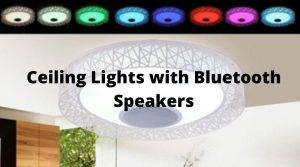 Ceiling Lights with Bluetooth Speakers