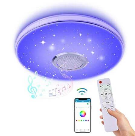 WZTO 36W LED Ceiling Light with Bluetooth