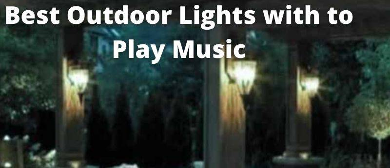 Outdoor Hanging Lights with Bluetooth Speaker